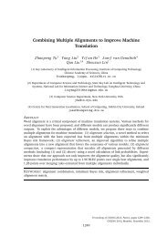 Combining Multiple Alignments to Improve Machine ... - ResearchGate