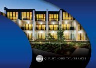 Conference/Functions Brochure - Taylors Lakes Hotel