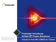 Airfast RF Power Solutions 48V LDMOS - Freescale Semiconductor