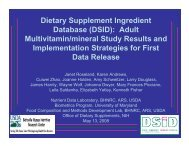 Dietary Supplement Ingredient Database (DSID): Adult Multivitamin ...