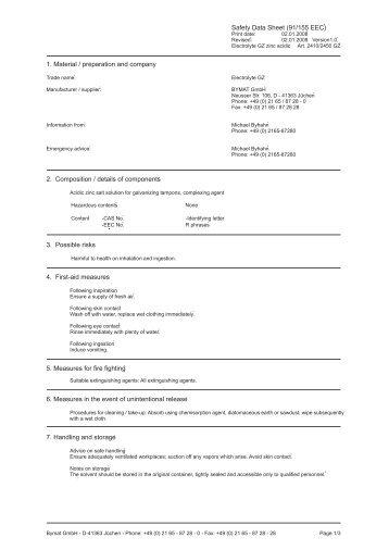 Safety Data Sheet Zinc Alloys Die Casting Nyrstar