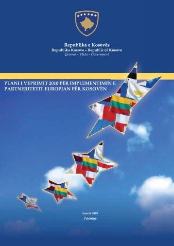 Plani i veprimit të partneritetit europian 2010 - Ministria e Integrimit