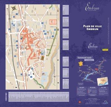 Plan de ville Embrun - Ski Planet