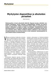 Myrkytysten diagnostiikan ja alkuhoidon periaatteet - Terveyskirjasto