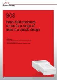 Hand held enclosure series for a range of uses in a classic ... - Bopla