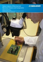 Failure Analysis of Electrical and Electronic Products and Components