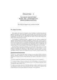 Du hsbd iryt égyptien au cæruleum romain - Presses des Mines