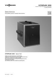 Datos técnico Vitoplex 300 TX3A de 620 a 2000 ... - Viessmann