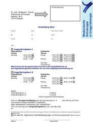 Anmeldung 2013 und AGB - AGUB