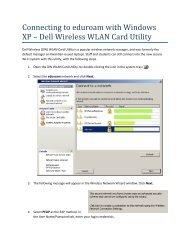 eduroam - Windows XP (Dell Utility)