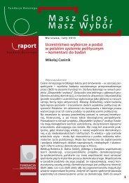 Uczestnictwo wyborcze a podaż w polskim systemie politycznym
