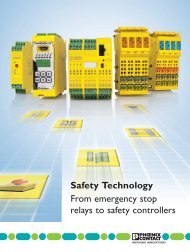 Safety Technology From emergency stop relays to ... - Phoenix Contact