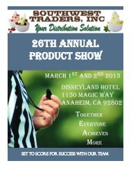 26th AnnuAl Product show - Southwest Traders