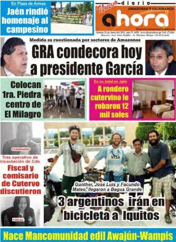 Presidente del GRA coloca primera piedra para obra de nuevo ...