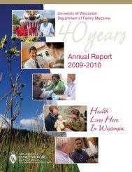 UW Department of Family Medicine 2009-2010 Annual Report