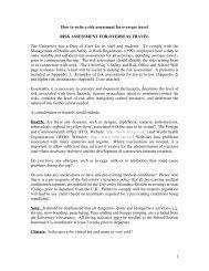 HW Risk Assessment form for Travel Overseas - Heriot-Watt University