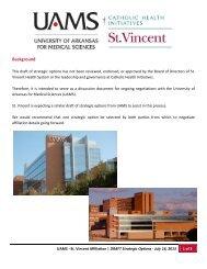 document produced last week by St. Vincent - Arkansas Business
