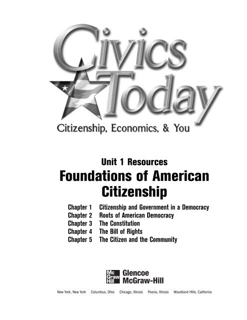 Unit 1 Resources Foundations Of American Citizenship