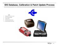 IDS Database, Calibration & Patch Update Process