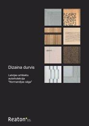 Latvijas arhitektu autordurvju kolekcija - Reaton