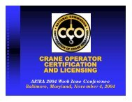 crane operator certification and licensing - National Work Zone ...