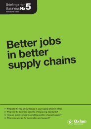 Better Jobs in Better Supply Chains - Oxfam International