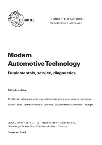 Modern automotive technology 8th edition 2014 modern automotive technology fundamentals europa lehrmittel fandeluxe Choice Image