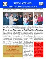Gateway 070212.pmd - Rotary Club of Bombay
