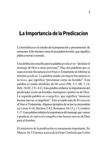 Homilética - Ptr. Arturo Quintero