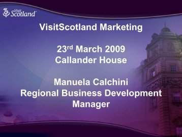 VisitScotland Marketing (PDF, 2.7MB) - My Future's in Falkirk