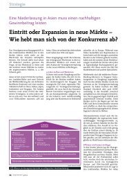 Eintritt oder Expansion in neue Märkte – Wie ... - solutionproviders