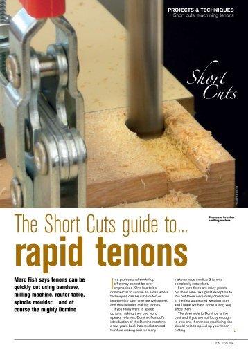 Short Cuts Series Tenons - Marc Fish