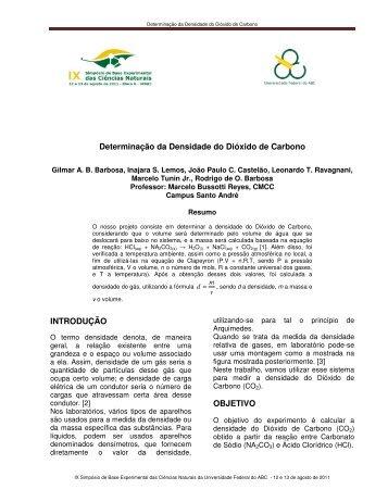 Determinação da Densidade do Dióxido de Carbono ... - BECN