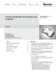 2-Kreis-Axialkolben-Konstantpumpe A18FDO - Group VH A/S
