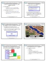 Programmazione orientata agli oggetti - Istituto di Scienze e ...