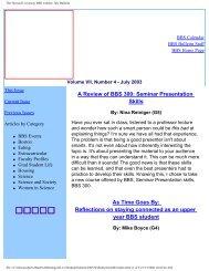 The Harvard University BBS website: July Bulletin - Division of ...