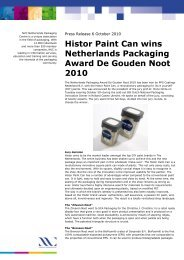 Histor Paint Can wins Netherlands Packaging Award De Gouden ...