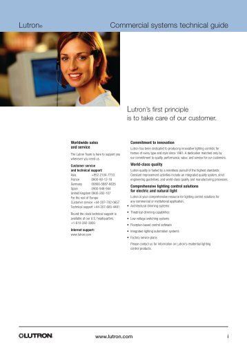 Lutron® Commercial systems technical guide - Lutron Lighting ...