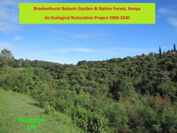 M Nicolson (PLI) Brackenhurst - An Ecological Resoration Project