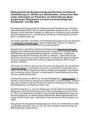 Stellungnahme der Bundesvereinigung Prävention und ... - BVPG
