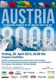 Freitag, 26. April 2013, 20.00 Uhr - Tyrolia