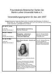 Freundeskreis Botanischer Garten der Martin-Luther-Universität ...