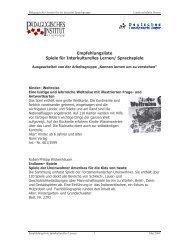 Empfehlungsliste - Kindergarten und Schule in Südtirol
