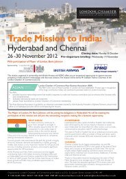 Trade Mission to India: - London Chamber of Commerce and Industry