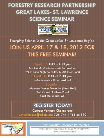 join us april 17 & 18, 2012 for this free seminar! - Canadian Institute ...