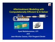 Aftertreatment Modeling with Computationally Efficient Q-S Solver