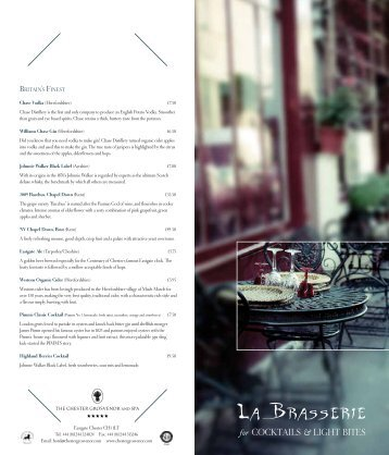 La Brasserie Bar - The Chester Grosvenor