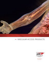 Vascular Access Product Brochure - Gore Medical