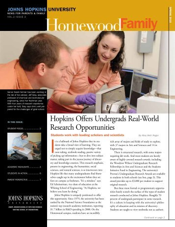 Spring 2010 - Parents Program | Johns Hopkins University