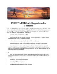 CREATIVE IDEAS: Suggestions for Churches - IDOP Canada